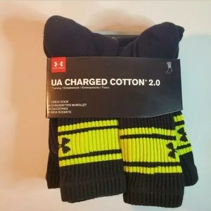 Under Armour Charged Cotton 2.0 Athletic Socks